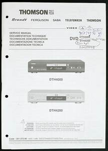 Thomson Dth4000 Dth4200 Original Dvd Player Service Manual