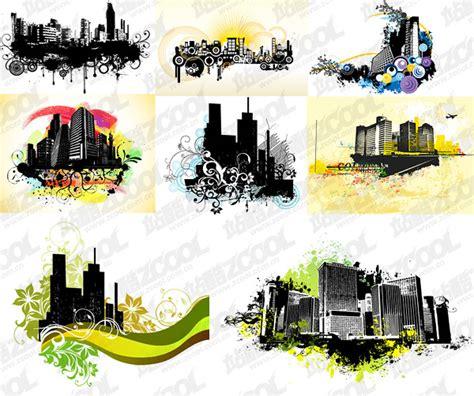 trend  urban architectural theme illustrator