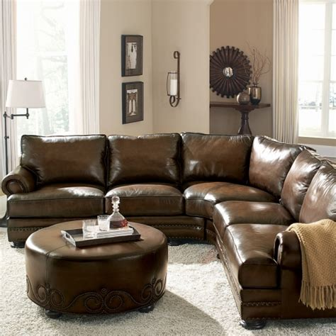 Bernhardt Foster Leather Sofa by Foster Bernhardt