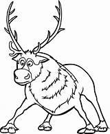 Frozen Sven Coloring Pages Reindeer Google Movie Disney Printable Print Sheets Gemerkt Von Getcolorings Christmas sketch template