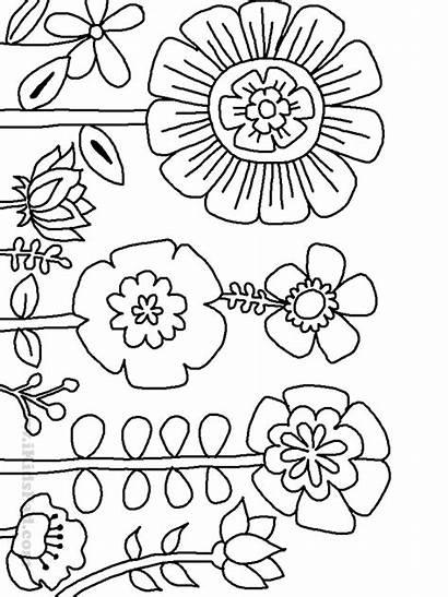 Coloring Plant Pages Plants Para Bordar Flowers