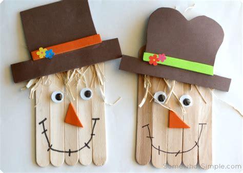 simple scarecrow craft  kids  somewhatsimplecom