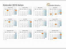 Feiertage 2019 Italien Kalender & Übersicht