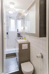 Salle De Bain Etroite : 1001 id es pour l 39 am nagement d 39 une petite salle de bain ~ Melissatoandfro.com Idées de Décoration
