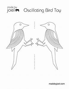 made by joel oscillating bird science toy for kids With balancing bird template