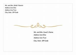 Download Wedding Invitation Envelope Heart Scroll Design