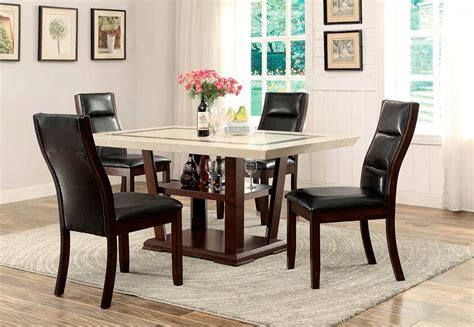 marble top dining table  urban transitional dining