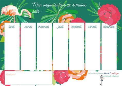 Organisez facilement les repas de la famille avec des menus équilibrés. Corailindigo creation organisateur semaine exotique | Planificateur de la semaine, Planificateur ...