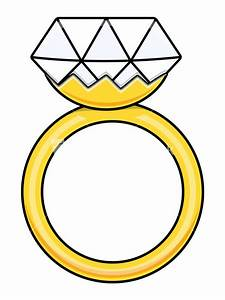 diamond ring cartoon vector illustration stock image With cartoon wedding ring