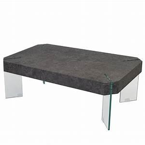 table bassebois aspect beton110 cm modele asten With table basse aspect beton
