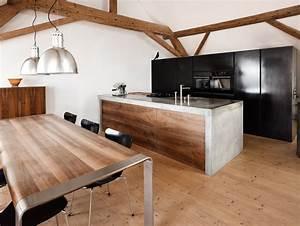 Arbeitsplatte Küche Beton : beton design erobert die k che bild presseportal ~ Watch28wear.com Haus und Dekorationen