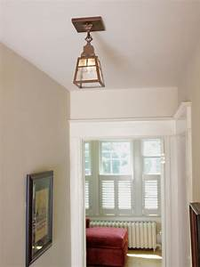 Hallway lighting craftsman ceiling