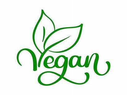 Vegan Logos Vector Restaurant Cafe Illustration Labels