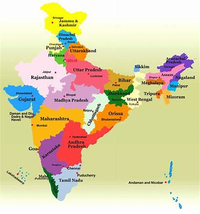 India States Map Indian State Division Latest