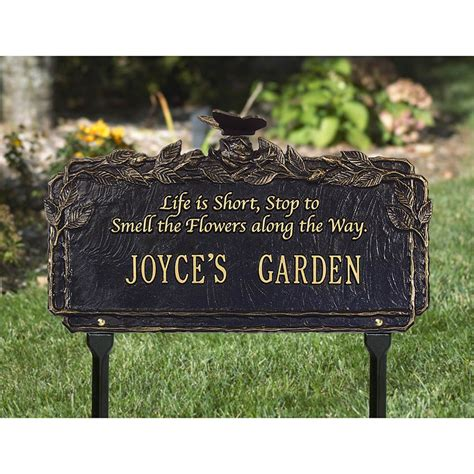 signs plaques butterflies blossom personalised pet outdoor