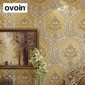Modern Classic Luxury 3D Embossed Floral Damask Wallpaper ...