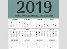 Free Editable SA South Africa Public Holidays 2019
