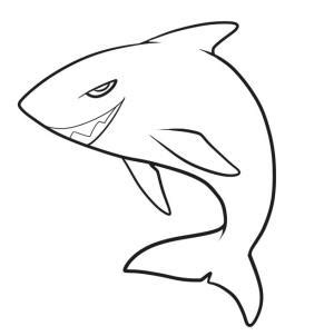megalodon drawing clipart