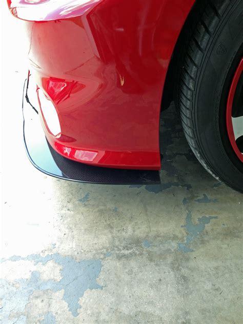 apr dodge charger srt front bumper splitter   cw