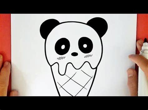 guuhdesenhos como desenhar um sorvete de panda kawaii