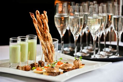 canapes with chagne chagne and canapes house weddings