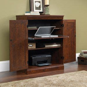 sauder arbor gate technology cabinet  small laptop