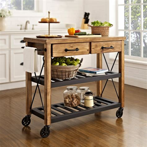 Crosley Roots Rack Industrial Kitchen Cart  Kitchen