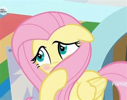 Fluttershy Blushing Mlp She Blush Yak Pony