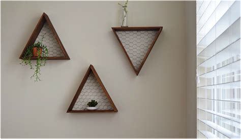 Diy Wooden Triangle Shelves The Hady Life