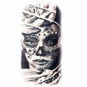 Tete De Mort Mexicaine Femme : tatoo temporaire femme coiff e d 39 une rose ~ Melissatoandfro.com Idées de Décoration