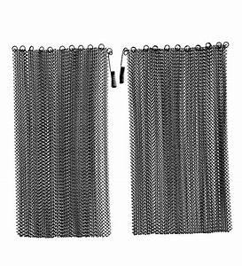 black mesh curtain fireplace screen curtain pair 20 quot h x