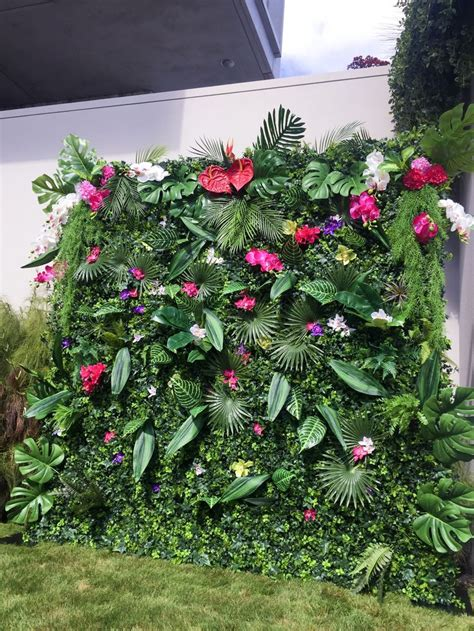tropical flower wall  flower wall nz flower wall