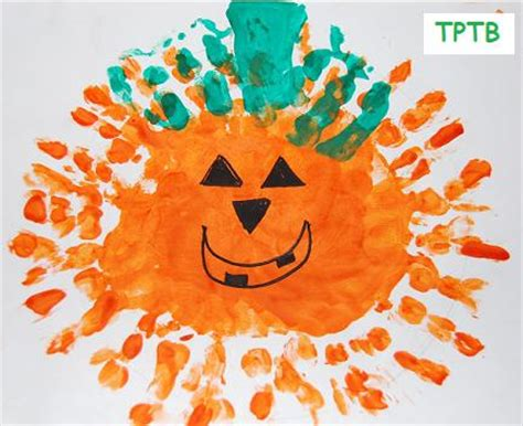 thumbprint pumpkin patch print pumpkins and witches 524 | Handprint Pumpkins