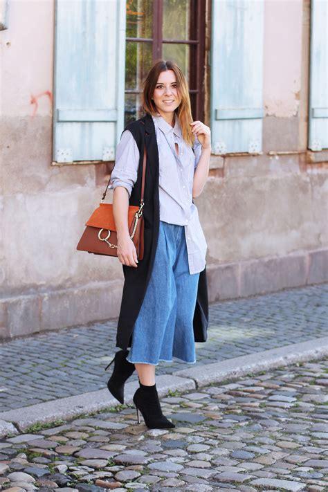 whoismocca modeblog culotte kombinieren denim zara ankle boots stiefeletten oversize