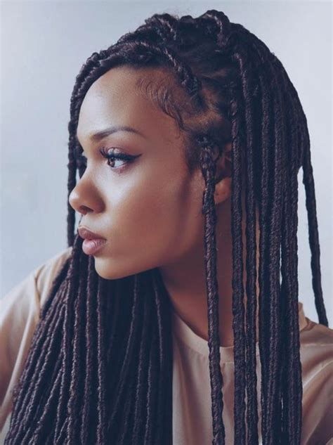coiffure avec tresse africaine id 233 e tendance coupe coiffure femme 2017 2018 tresse africaine cheveux cr 233 pis longs femme