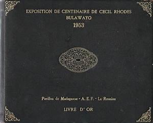 Bulawayo Rhodes Centenary Exhibition 1953 Guest Book ...