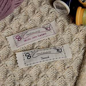 Personalised woven labels with sewing theme gb name tapes for Craft labels sew in