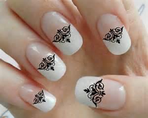 Noir damass? de dentelle nail art stickers gothic astuce salon