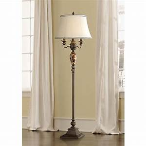 Kathy ireland mulholland 4 light floor lamp t4202 for Lamp and light ireland