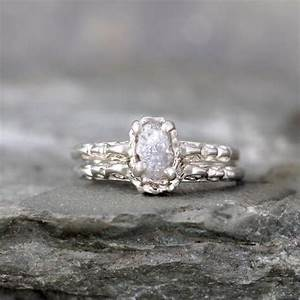 matching engagement ring and wedding band rough diamond With rough diamond wedding ring
