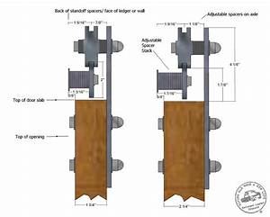 low profile barn door hardware flat track sliding door With barn door assembly kit