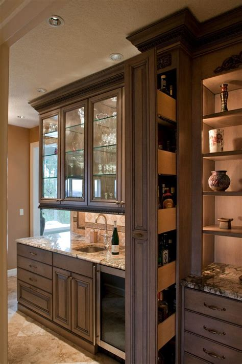 Hidden Liquor Cabinet Kitchen Traditional With Award