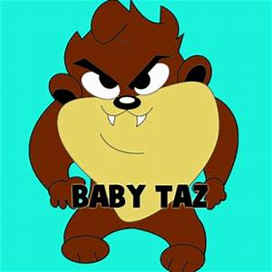 How to Draw Baby Taz, Step by Step, Cartoons, Cartoons ...