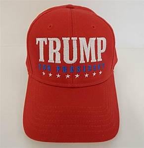 Red Trump for President Baseball Style Hats. Support the ...