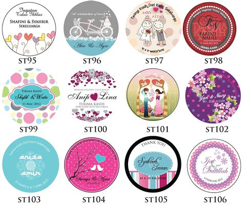 sticker design posted  june   ceria kad kahwin