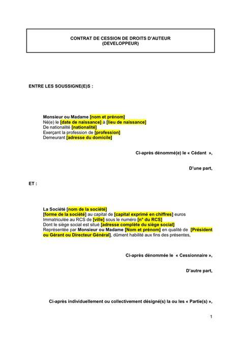 adresse si ge social soci t g n rale modelé de contrat de cession de droits d auteur doc pdf