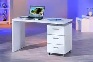 bureau laque blanc bureau blanc laqué avec rangement comforium