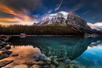 Louise Lake Canada Alberta Nature Mountain Landscape