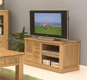Mobel Oak Four Drawer Television Cabinet
