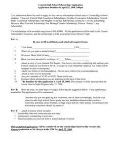 high school scholarship resume format best photos of school application template college application form template school